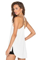 Halston Double Ring Tank Ivory