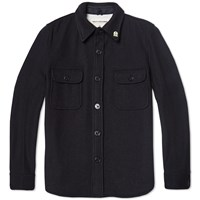 Fidelity Wool Cpo Jacket Dark Navy
