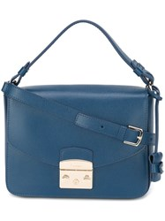 Furla Square Shoulder Bag Blue
