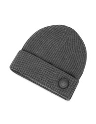 Dsquared Cable Knit Wool Men's Hat Dark Gray