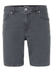 Topman Grey Slim Denim Shorts