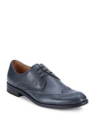 John Varvatos Sid Chain Leather Derby Shoes Charcoal