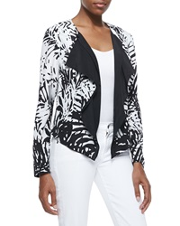 Indikka Tropical Printed Cascade Jacket Medium 8 10