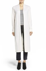 Women's Nordstrom Collection Open Front Cashmere Duster Cardigan Ivory Soft
