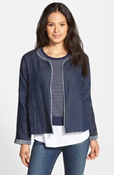 Eileen Fisher Organic Cotton Short Denim Jacket Regular And Petite