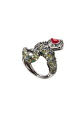 Kenneth Jay Lane Crystal Cocktail Ring Gr. One Size