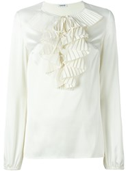 P.A.R.O.S.H. 'Piano' Blouse Nude And Neutrals