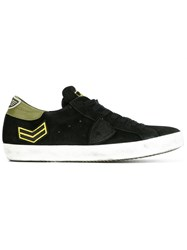 Philippe Model Arrow Patch Sneakers Black