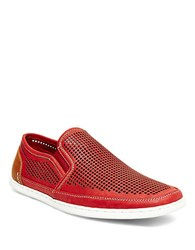 Steve Madden Factionn Bicycle Toe Perforated Casual Sneakers Red