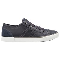 Geox Smart Leather Lace Up Trainers Navy