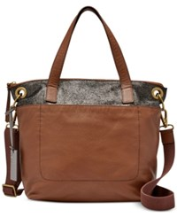 Fossil Keely Tote Brown Multi