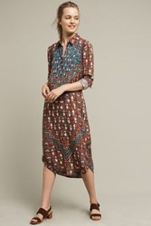 Anthropologie Dima Midi Shirtdress Orange