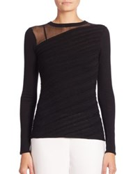 Elie Tahari Yael Merino Wool Sweater Black