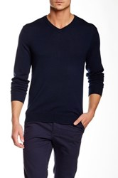 Bonobos Yorkshire Wool V Neck Sweater Blue