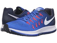 Nike Air Zoom Pegasus 33 Racer Blue White Mid Navy Blue Glow Men's Running Shoes