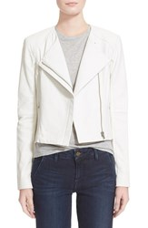 Women's Veda 'Dali' Leather Jacket Cream