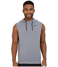Nike Fleece Pullover Sleeveless Training Hoodie Cool Grey Black Men's Clothing Gray