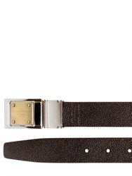 Dolce And Gabbana 30Mm Reversible Saffiano Leather Belt