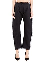 Anne Sofie Madsen Baggy Fringed Pants Black