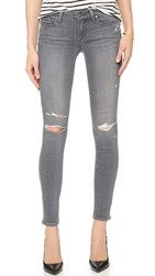Paige Verdugo Ankle Skinny Jeans Sterling Destructed