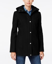 Tommy Hilfiger Hooded Peacoat Only At Macy's Black