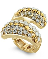 Inc International Concepts Gold Tone Pave Bypass Stretch Ring Only At Macy's