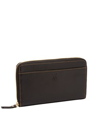 Tusk Leather Zip Around Wallet Black