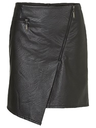 Betty Barclay Faux Leather Assymetrical Skirt