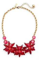Kate Spade Women's New York 'Blooming Brilliant' Crystal Frontal Necklace Pink Multi