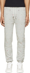 Band Of Outsiders Heather Grey Embroidered Foulard Lounge Pants