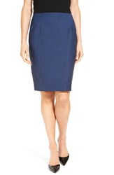 Boss Women's 'Vulara' Stretch Wool Blend Suit Skirt Blue Melange