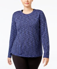 Ideology Plus Size Base Layer Space Dyed Top Only At Macy's Rich Plum