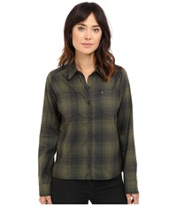 Hurley Dri Fit Wilson Flannel Cargo Khaki Women's Long Sleeve Button Up