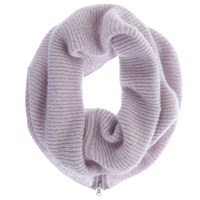 Mint Velvet Rib Knit Snood Lilac