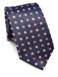 Saks Fifth Avenue Flower Tie Purple
