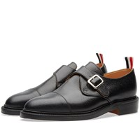 Thom Browne Single Monk Strap Shoe Black
