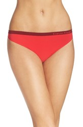 Calvin Klein Women's 'Pure' Seamless Thong Evocative Red