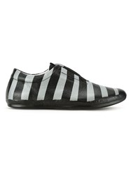 Oxs Rubber Soul Striped Laceless Sneakers Black
