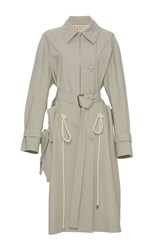 Marni Duster Trench Coat Khaki