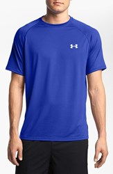 Under Armour Men's 'Ua Tech' Loose Fit Short Sleeve T Shirt Royal White