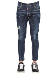 Dsquared 17Cm Tidy Biker Sid Stretch Denim Jeans