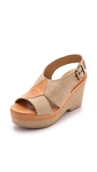 A.P.C. Janis Sandals Beige Natural