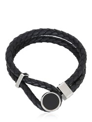 Montblanc Leather Steel And Resin Bracelet