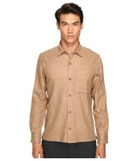 Todd Snyder Italian Woven Shirt Jacket Camel Men's Coat Tan