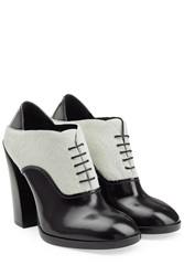 Jil Sander Leather And Calf Hair Ankle Boots Multicolor