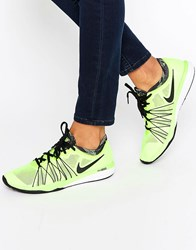 Nike Neon Yellow Dual Fusion Trainers Volt Black White