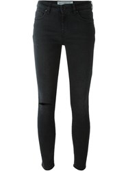 Victoria Victoria Beckham Ripped Skinny Jeans Black