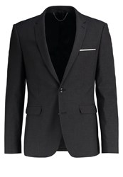 Burton Menswear London Suit Jacket Dark Grey