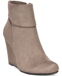 Report Riko Foldover Wedge Booties Women's Shoes