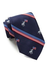 Alara Silk Clinton Donkey With Flag Tie Blue